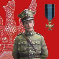 Polski Oficer, Wojna Polsko-Bolszewicka 1920, figurka 54mm