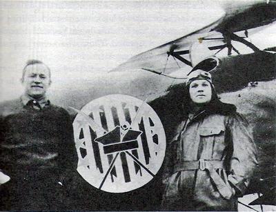 Merian Cooper i Cederic Fauntleroy przy Albatrosie D-III OEF z 7 Eskadry