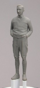 Doskonale wyrzeźbiona figurka pilota w skali 1:48