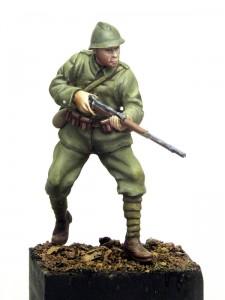 figurka żołnierza z Bitwy Warszawskiej 1920