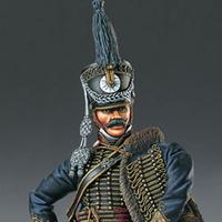 Polski oficer huzarów, figurka Pegaso 90mm