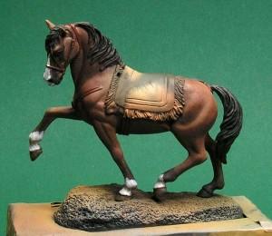 malowanie detali konia