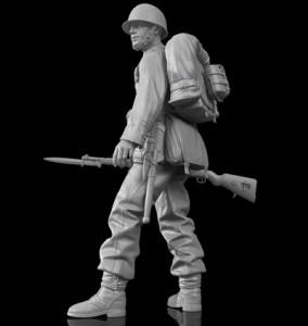 żołnierz polski 1939, figurka 120mm