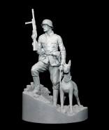 German Officer with Doberman
