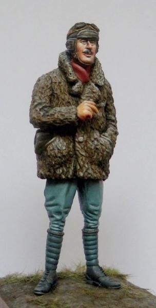 WWI Pilot in Fur Coat