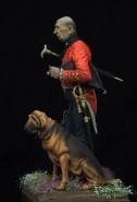 British staff surgeon with a bloodhound