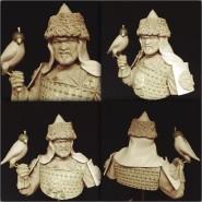 Gengiz Khan with Hawk