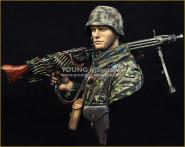 Waffen SS Young Machine Gunner