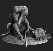 Wounded grenadier