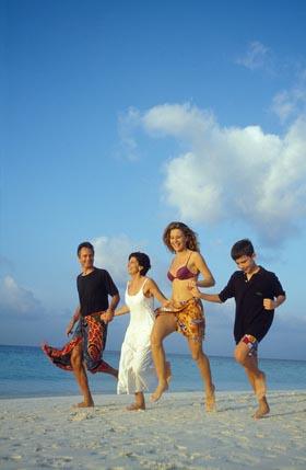 zdjęcie z wakacji - piękne niebo nad plażą